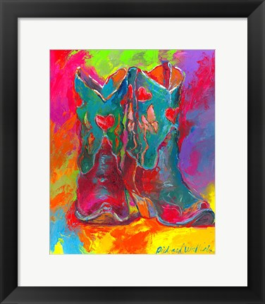 Framed Boots Print