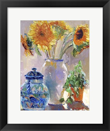 Framed Sunflowers Print