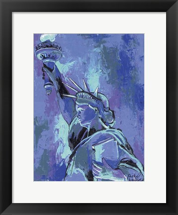 Framed Statue Of Liberty 2 Print