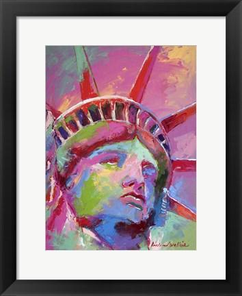 Framed Lady Liberty Print