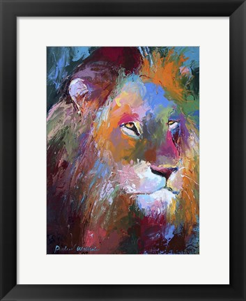Framed Lion 4 Print