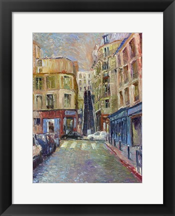 Framed Paris Stairs Print