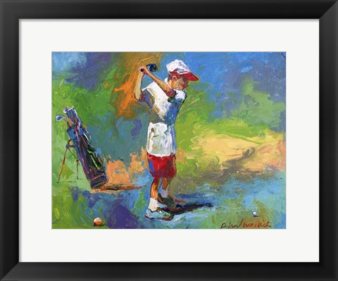 Framed Kid Golf Print