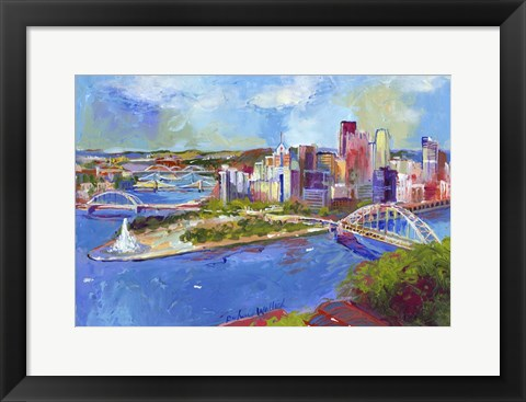 Framed Pittsburgh Print