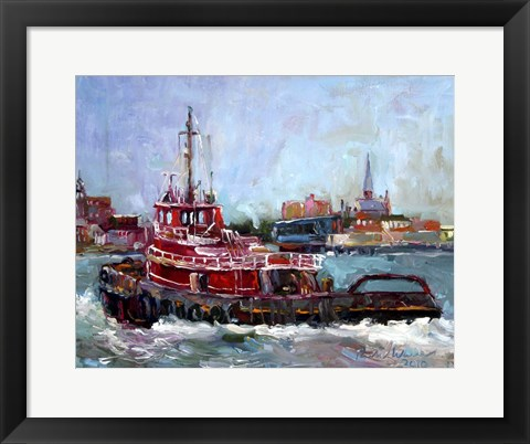 Framed Tugboat Print