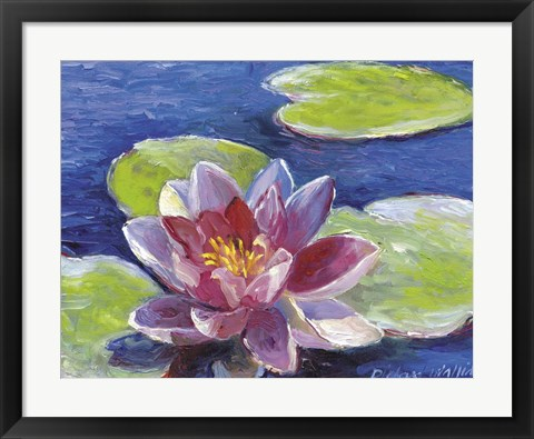 Framed Lily Pad Flowers Print
