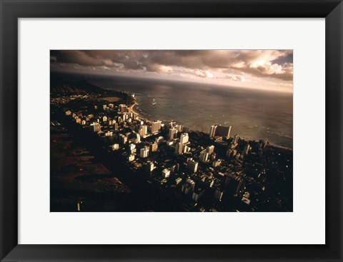 Framed Waikiki Beach Print