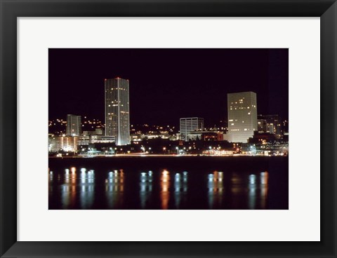 Framed Downtown Portland Print