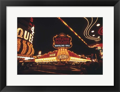 Framed Vegas Lights Print