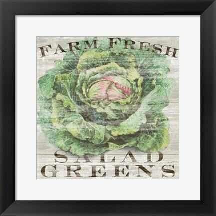 Framed Farm Fresh Greens Print