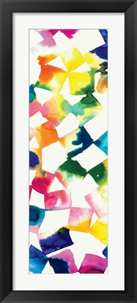 Framed Colorful Cubes III Print