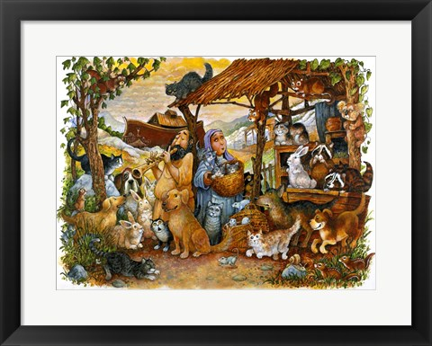 Framed Noah & the Animals Print