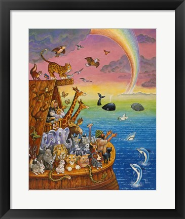 Framed Noah & The Rainbow Print