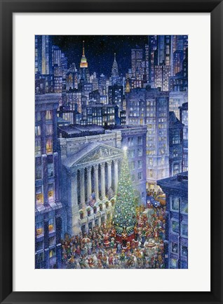 Framed Christmas In The City Print