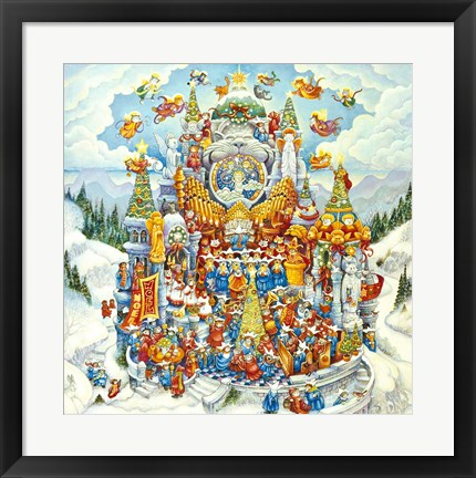 Framed Holy Cats Do Christmas Print
