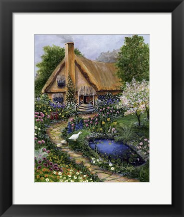 Framed Best Old Cottage Print