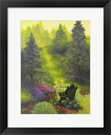 Framed Peaceful Garden Print