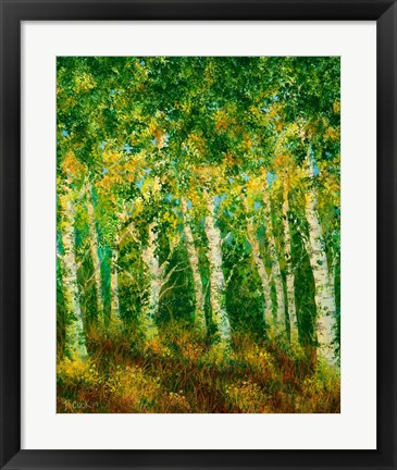 Framed Birch Trees Print