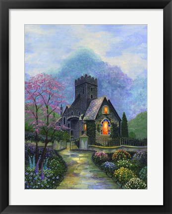 Framed Irish Church & Garden Print