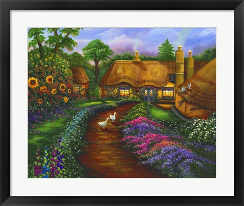 Framed Honeymoon Cottage Print