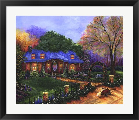 Framed Apple Cottage Print