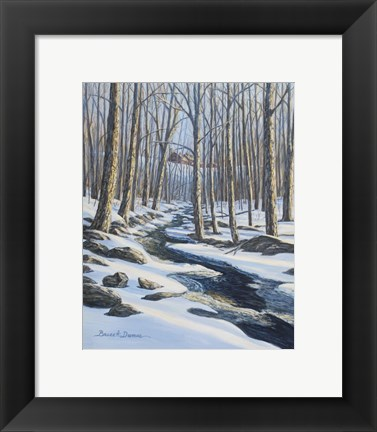 Framed Woodland Farm Stream Print