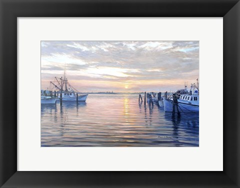 Framed Sunset at Galilee Print