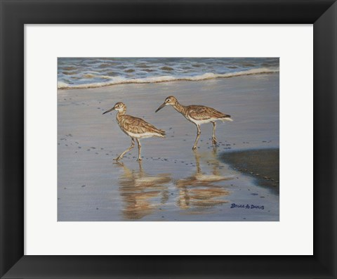 Framed Shore Walkers Print