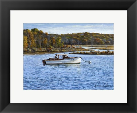 Framed Wooden Boat In Essex Print