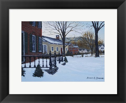 Framed Woodstock Village Print