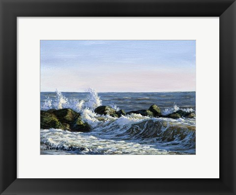 Framed Breaking Waves Print
