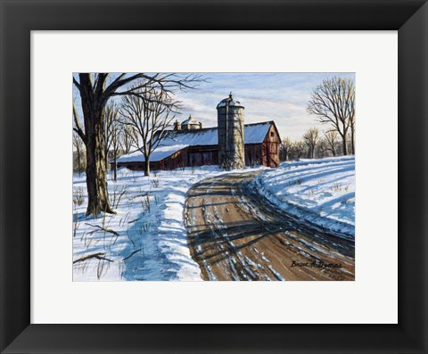 Framed Northwest Barn Print
