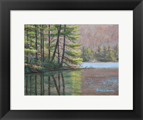 Framed Pine Lake Print