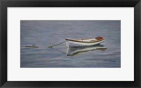 Framed Reflective Dinghy Print