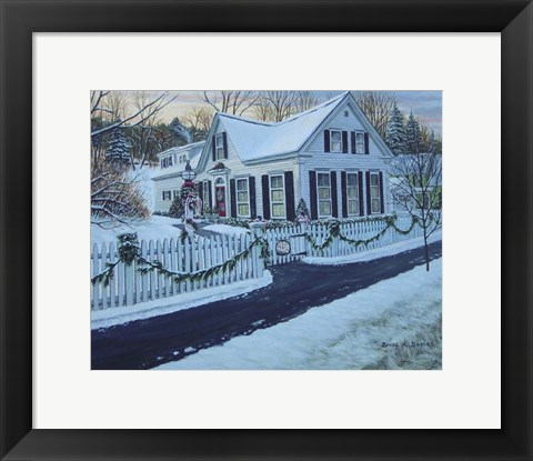 Framed Christmas, Woodstock Vt Print