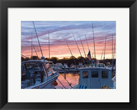 Framed Niantic Harbor Print