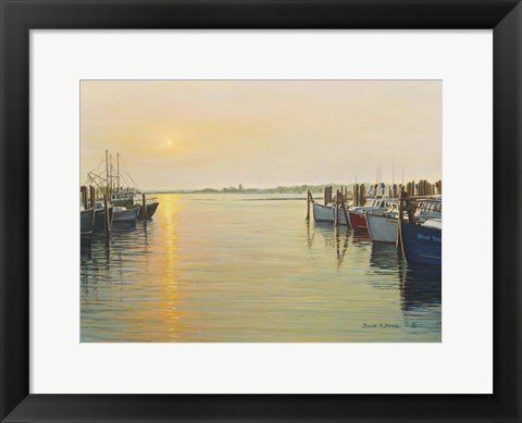 Framed Point Judith Harbor Print
