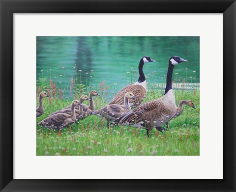 Framed Goose Family Outing Print