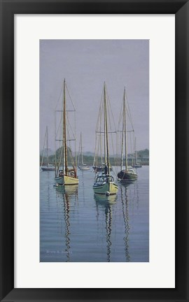 Framed Stonington Sail Boats Print