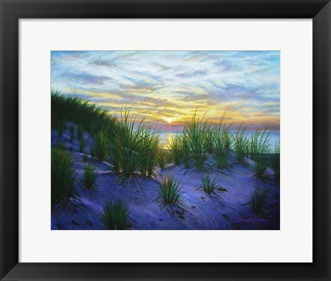Framed Race Point Dune Sunset Print