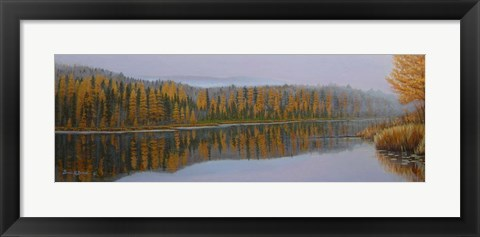 Framed New Hampshire Reflection Print