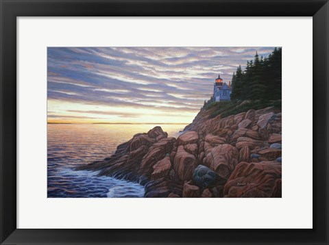 Framed Bass Harbor Light Print