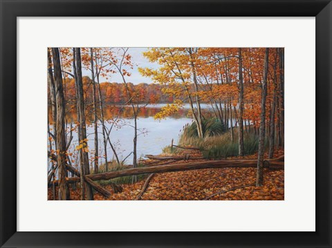 Framed Crescent Lake Print
