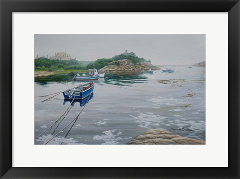 Framed Misty Waters Print
