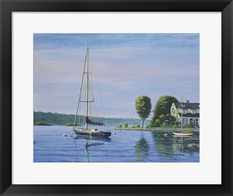 Framed Watch Hill Harbor Print