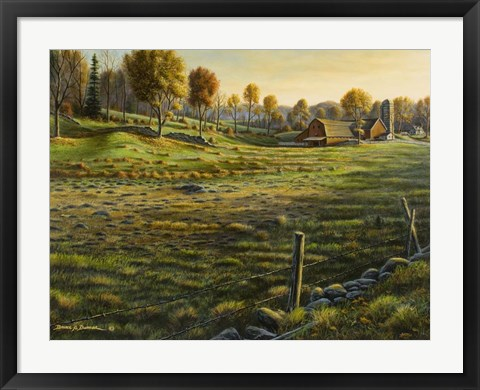 Framed Bethel Farm Morning Print