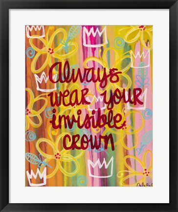 Framed Invisible Crown Print