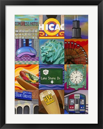 Framed Windy City Print