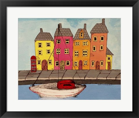 Framed By The Canal Print