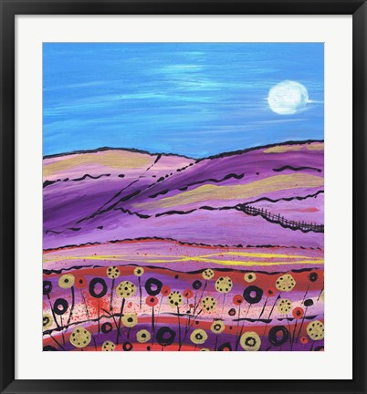 Framed Lavendar Fields Print